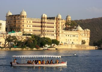 Boat Ride in Lake Pichola - a man made lake in Udaipur - Rajasthan - India - Copy