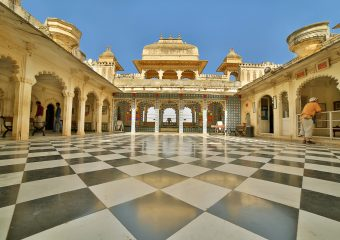 City Palace in Udaipur in Rajasthan in India