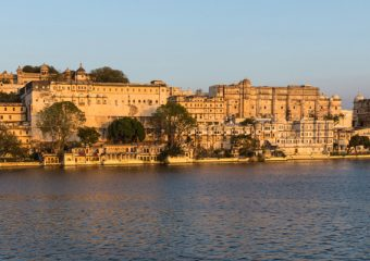 City Palce of Udaipur in Rajasthan in India
