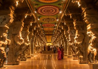 pilgrims at the Meenakshi Temple, Meenakshi Temple is one of the most holy place for hindu people in India.