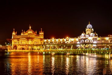 Amritsar Golden Temple at night - Biggest Sikh Temple in India - Punjab - North - India