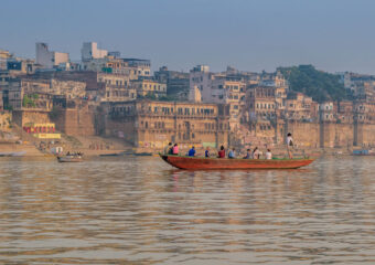 Boat ride in Varanasi cruising through the ghats to watch daily life in Varanasi is the best way - India