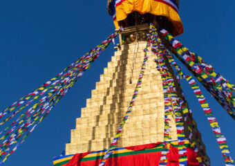 Boudhnath Stupa with eyes in all four directions - Kathmandu - Nepal