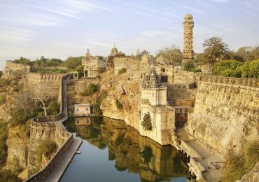 Chittorgarh Fort and its tower in Rajasthan