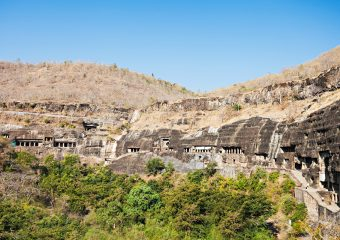 Ellora Caves in Aurangabad are the first rock hill architecture in India - Aurangabad - India
