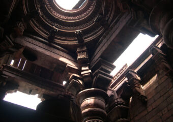 Interiopr and celing of uncomplete 11th century temple at Bhojpur - Near Bhopal - Madhya Pradesh - Central India - India