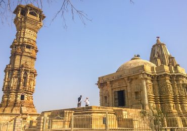 Jain temple in Chittorgarh fort - Hill fort - Rajasthan - North India